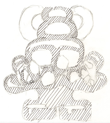 Image showing the first layer of Cross Hatching